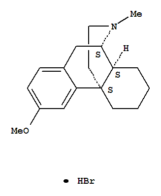 Molecular Structure of 125-69-9 (Morphinan,3-methoxy-17-methyl-, hydrobromide (1:1), (9a,13a,14a)-)