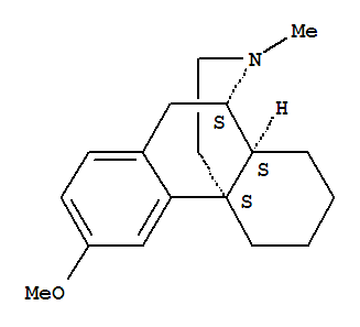 Molecular Structure of 125-71-3 (Morphinan,3-methoxy-17-methyl-, (9α,13α,14α)-)