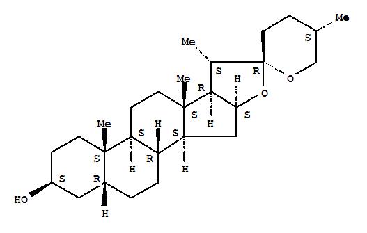 126-19-2,Spirostan-3-ol, (3β,5β,25S)-,5b-Spirostan-3b-ol, (25S)- (8CI);Sarsasapogenin(6CI,7CI);NSC 1615;Parigenin;