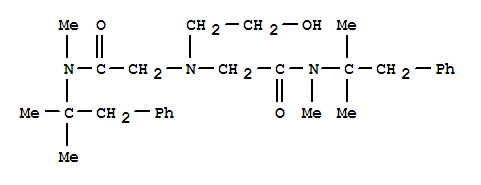 Molecular Structure of 126-27-2 (Acetamide,2,2'-[(2-hydroxyethyl)imino]bis[N-(1,1-dimethyl-2-phenylethyl)-N-methyl-)