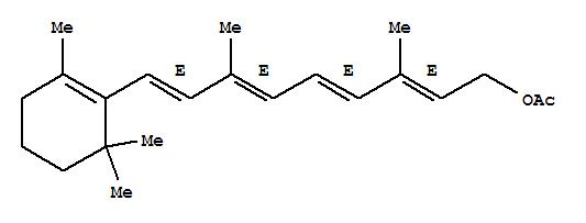 Molecular Structure of 127-47-9 (Retinyl acetate)
