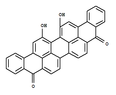 Molecular Structure of 128-59-6 (16,17-Dihydroxyviolanthrene-5,10-dione)