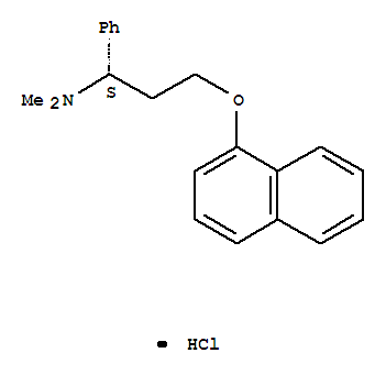 Molecular Structure of 129938-20-1 (Dapoxetine hydrochloride)