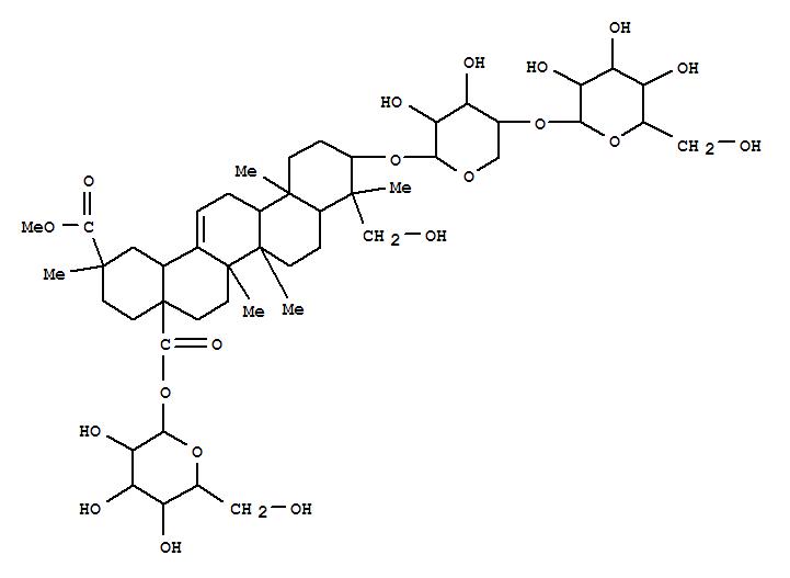 130364-33-9,Olean-12-ene-28,29-dioicacid, 3-[(4-O-b-D-glucopyranosyl-b-D-xylopyranosyl)oxy]-23-hydroxy-,28-b-D-glucopyranosyl 29-methylester, (3b,4a,20b)-,EsculentosideL