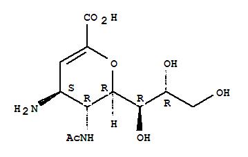 5-(Acetylamino)-4-amino-2,6-anhydro-3,4,5-trideoxy-D-glycero-D-galactonon-2-enonic acid; 4-AM-DANA