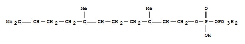 Molecular Structure of 13058-04-3 (Diphosphoric acid,P-(3,7,11-trimethyl-2,6,10-dodecatrienyl) ester)