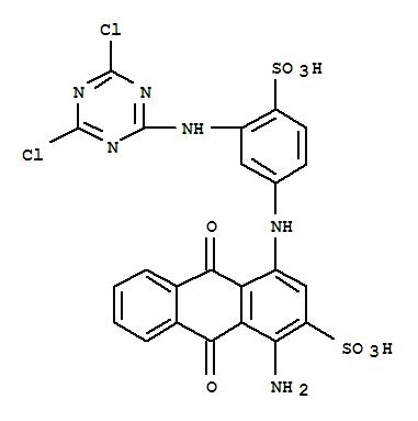 Molecular Structure of 13324-20-4 (2-Anthracenesulfonicacid,1-amino-4-[[3-[(4,6-dichloro-1,3,5-triazin-2-yl)amino]-4-sulfophenyl]amino]-9,10-dihydro-9,10-dioxo-)
