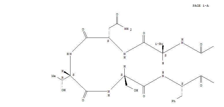 135329-52-1,Cyclo(L-arginyl-L-leucyl-L-asparaginyl-L-threonyl-L-seryl-L-phenylalanyl-L-threonyl-L-prolyl),Leucopyrokinin, 1-L-asparagine-8-L-leucine-,cyclic (8®1)-peptide;Pyrrolo[1,2-a][1,4,7,10,13,16,19,22]octaazacyclotetracosine, cyclic peptidederiv.