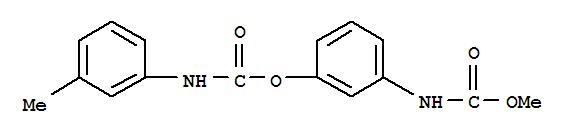 CAS NO:13684-63-4 Carbamic acid,N-(3-methylphenyl)-, 3-[(methoxycarbonyl)amino]phenyl ester Molecular Structure