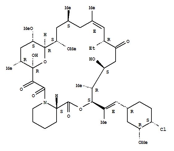 137071-32-0,Pimecrolimus,33-epi-Chloro-33-desoxyascomycin;Elidel;SDZ ASM 981;UNII-7KYV510875;(3S,4R,5S,8R,9E,12S,14S,15R,16S,18R,19R,26aS)-3-((E)-2-((1R,3R,4S)-4-chloro-3-methoxycyclohexyl)-1-methylvinyl)-8-ethyl-5,6,8,11,12,13,14,15,16,17,18,19,24,26,26a-hexadecahydro-5,19-epoxy-3H-pyrido(2,1-c)(1,4)oxaazacyclotricosine-1,17,20,21(4H,23H)-tetrone;