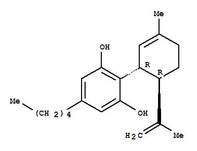 13956-29-1,1,3-Benzenediol,2-[(1R,6R)-3-methyl-6-(1-methylethenyl)-2-cyclohexen-1-yl]-5-pentyl-,1,3-Benzenediol,2-[3-methyl-6-(1-methylethenyl)-2-cyclohexen-1-yl]-5-pentyl-, (1R-trans)-;Cannabidiol (7CI); Resorcinol, 2-p-mentha-1,8-dien-3-yl-5-pentyl-, trans-(-)-(8CI); (-)-CBD; (-)-Cannabidiol; (-)-trans-Cannabidiol; CBD; D1(2)-trans-Cannabidiol