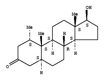 1424-00-6,Androstan-3-one,17-hydroxy-1-methyl-, (1a,5a,17b)-,5a-Androstan-3-one, 17b-hydroxy-1a-methyl- (6CI,7CI,8CI);17b-Hydroxy-1a-methyl-5a-androstan-3-one;1a-Methyl-17b-hydroxy-5a-androstan-3-one;1a-Methyl-5a-dihydrotestosterone;Androviron;Mesteranum;Mestoranum;NSC 75054;Proviron;Provirone 25;SH 723;Testiwop;