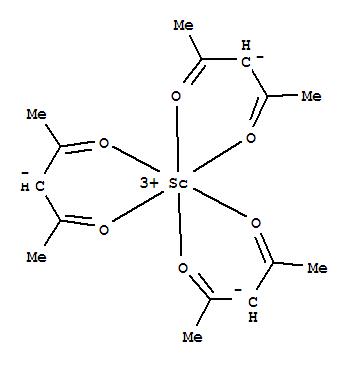 Molecular Structure of 14284-94-7 (Tris(pentane-2,4-dionato-O,O')scandium)