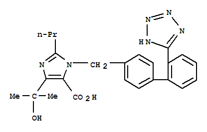 1H-Imidazole-5-carboxylicacid,4-(1-hydroxy-1-methylethyl)-2-propyl-1-[[2'-(2H-tetrazol-5-yl)[1,1'-biphenyl]-4-yl]methyl]- product picture