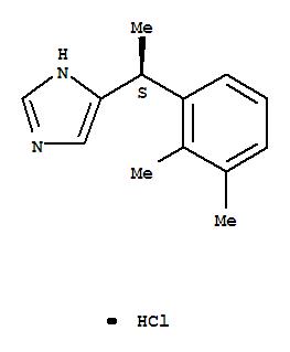 Molecular Structure of 145108-58-3 (1H-Imidazole,5-[(1S)-1-(2,3-dimethylphenyl)ethyl]-, hydrochloride (1:1))