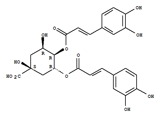 Molecular Structure of 14534-61-3 (Isochlorogenic acid B)