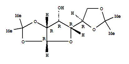 Molecular Structure of 14686-89-6 (a-D-Gulofuranose,1,2:5,6-bis-O-(1-methylethylidene)-)