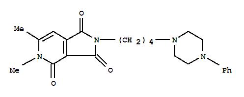 147297-18-5,1H-Pyrrolo[3,4-c]pyridine-1,3,4(2H,5H)-trione,5,6-dimethyl-2-[4-(4-phenyl-1-piperazinyl)butyl]-,3,4-dimethyl-8-[4-(4-phenylpiperazin-1-yl)butyl]-3,8-diazabicyclo[4.3. 0]nona-4,10-diene-2,7,9-trione
