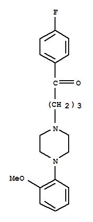 CAS NO:1480-19-9 1-Butanone,1-(4-fluorophenyl)-4-[4-(2-methoxyphenyl)-1-piperazinyl]- Molecular Structure