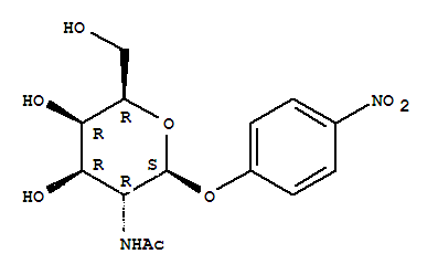 Molecular Structure of 14948-96-0 (b-D-Galactopyranoside,4-nitrophenyl 2-(acetylamino)-2-deoxy-)