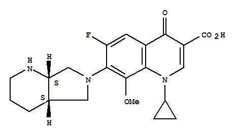 151096-09-2,3-Quinolinecarboxylicacid,1-cyclopropyl-6-fluoro-1,4-dihydro-8-methoxy-7-[(4aS,7aS)-octahydro-6H-pyrrolo[3,4-b]pyridin-6-yl]-4-oxo-,3-Quinolinecarboxylicacid,1-cyclopropyl-6-fluoro-1,4-dihydro-8-methoxy-7-(octahydro-6H-pyrrolo[3,4-b]pyridin-6-yl)-4-oxo-,(4aS-cis)-;Izilox;Moxifloxacine;Vigamox;Moxifloxacin;