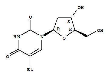 Molecular Structure of 15176-29-1 (Uridine,2'-deoxy-5-ethyl-)