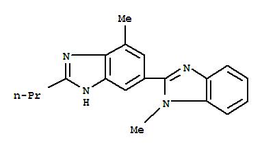 Molecular Structure of 152628-02-9 (2-n-Propyl-4-methyl-6-(1-methylbenzimidazole-2-yl)benzimidazole)