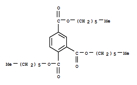 Molecular Structure of 1528-49-0 (1,2,4-Benzenetricarboxylicacid, 1,2,4-trihexyl ester)