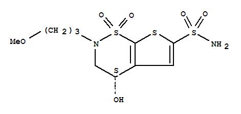 -S--3-4-Dihydro-4-hydroxy-2--3-methoxypropyl--2H-thieno-3-2-e--1-2-thiazine-6-sulfonamide-1-1-dioxide