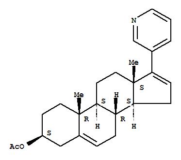 Molecular Structure of 154229-18-2 (Androsta-5,16-dien-3-ol,17-(3-pyridinyl)-, acetate (ester), (3b)-)
