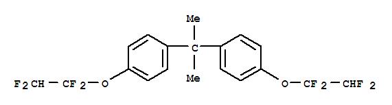1544-19-0,Benzene,1,1'-(1-methylethylidene)bis[4-(1,1,2,2-tetrafluoroethoxy)-,Propane,2,2-bis[p-(1,1,2,2-tetrafluoroethoxy)phenyl]- (6CI,8CI); NL 33