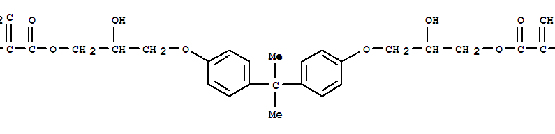 Molecular Structure of 1565-94-2 (2-Propenoic acid,2-methyl-,1,1'-[(1-methylethylidene)bis[4,1-phenyleneoxy(2-hydroxy-3,1-propanediyl)]]ester)