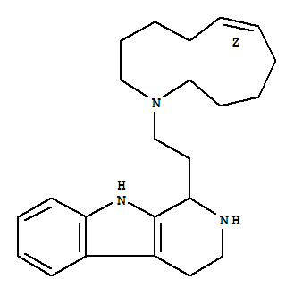 157207-88-0,1H-Pyrido[3,4-b]indole,1-[2-(6Z)-azacycloundec-6-en-1-ylethyl]-2,3,4,9-tetrahydro-, (+)-,1H-Pyrido[3,4-b]indole,1-(2-azacycloundec-6-en-1-ylethyl)-2,3,4,9-tetrahydro-, (Z)-(+)-;Azacycloundecane, 1H-pyrido[3,4-b]indole deriv.; (+)-Keramamine C; Keramamine C