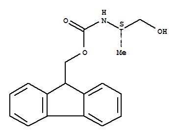 Molecular Structure of 161529-13-1 (Carbamic acid,N-[(1S)-2-hydroxy-1-methylethyl]-, 9H-fluoren-9-ylmethyl ester)