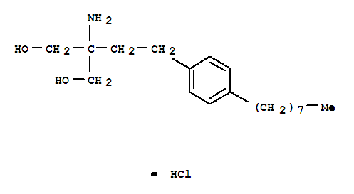 Molecular Structure of 162359-56-0 (Fingolimod hydrochloride)