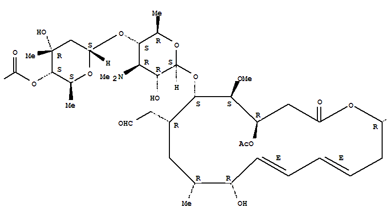 Molecular Structure of 16846-24-5 (Leucomycin V, 3-acetate4B-(3-methylbutanoate))