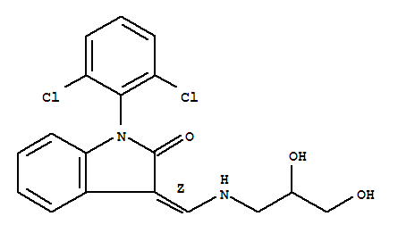 Molecular Structure of 172371-96-9 (1-(2,6-Dichlorophenyl)-2-indolinone)