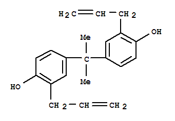 Molecular Structure of 1745-89-7 (Phenol,4,4'-(1-methylethylidene)bis[2-(2-propen-1-yl)-)