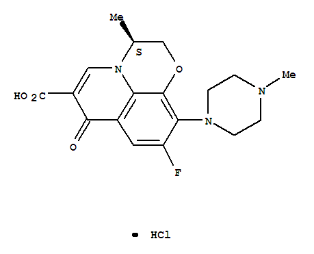 7H-Pyrido[1,2,3-de]-1,4-benzoxazine-6-carboxylicacid, 9-fluoro-2,3-dihydro-3-methyl-10-(4-methyl-1-piperazinyl)-7-oxo-,hydrochloride (1:1), (3S)- product picture