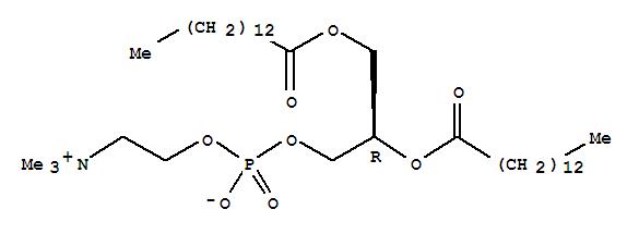 Molecular Structure of 18194-24-6 (1,2-Dimyristoyl-sn-glycero-3-phosphocholine)