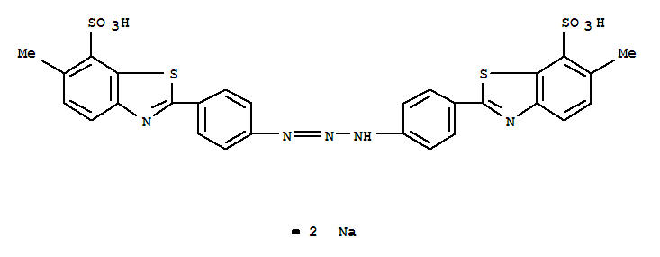7-Benzothiazolesulfonic acid,2,2'-(1-triazene-1,3-diyldi-4,1-phenylene)bis[6-methyl-, sodium salt (1:2)(1829-00-1)