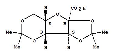 Molecular Structure of 18467-77-1 (a-L-xylo-2-Hexulofuranosonic acid,2,3:4,6-bis-O-(1-methylethylidene)-)