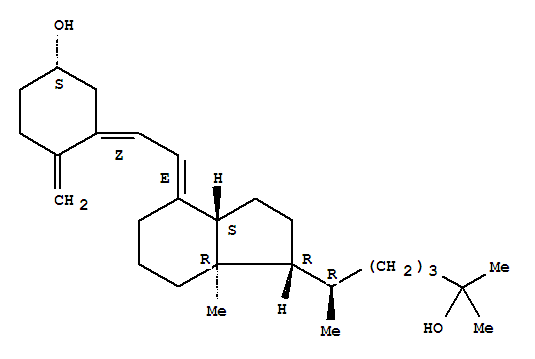 Molecular Structure of 19356-17-3 (Calcifediol anhydrous)