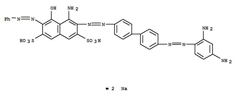 Molecular Structure of 1937-37-7 (2,7-Naphthalenedisulfonicacid,4-amino-3-[2-[4'-[2-(2,4-diaminophenyl)diazenyl][1,1'-biphenyl]-4-yl]diazenyl]-5-hydroxy-6-(2-phenyldiazenyl)-,sodium salt (1:2))