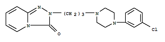 Molecular Structure of 19794-93-5 (1,2,4-Triazolo[4,3-a]pyridin-3(2H)-one,2-[3-[4-(3-chlorophenyl)-1-piperazinyl]propyl]-)