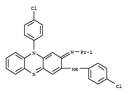 Molecular Structure of 2030-63-9 (2-Phenazinamine,N,5-bis(4-chlorophenyl)-3,5-dihydro-3-[(1-methylethyl)imino]-)
