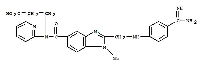 Molecular Structure of 211914-51-1 (β-Alanine,N-[[2-[[[4-(aminoiminomethyl)phenyl]amino]methyl]-1-methyl-1H-benzimidazol-5-yl]carbonyl]-N-2-pyridinyl-)
