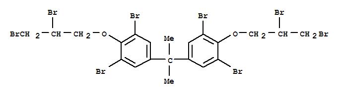 21850-44-2,Tetrabromobisphenol A bis(dibromopropyl ether),Propane,2,2-bis[3,5-dibromo-4-(2,3-dibromopropoxy)phenyl]- (8CI);1,1'-Isopropylidenebis[3,5-dibromo-4-(2,3-dibromopropoxy)benzene];2,2-Bis[3,5-dibromo-4-(2,3-dibromopropoxy)phenyl]propane;2,2-Bis[[3,5-dibromo-4-(2,3-dibromopropyloxy)]phenyl]propane;3,3',5,5'-Tetrabromobisphenol A bis(2,3-dibromopropyl) ether;4,4'-Isopropylidenebis[2,6-dibromo-1-(2,3-dibromopropoxy)benzene];Bis(2,3-dibromopropoxy)tetrabromobisphenol A;Bromkal 66-8;D 5532;FG 3100;GX 5532;PE 68;Pyroguard SR 720;Saytex HP 800A;TBBPA-DBPE;