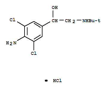 Molecular Structure of 21898-19-1 (Clenbuterol hydrochloride)