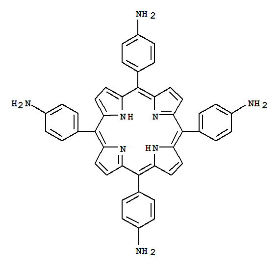 Molecular Structure of 22112-84-1 (Benzenamine,4,4',4'',4'''-(21H,23H-porphine-5,10,15,20-tetrayl)tetrakis-)